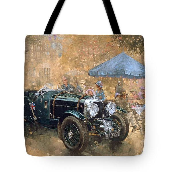 Garden Party With The Bentley Tote Bag by Peter Miller