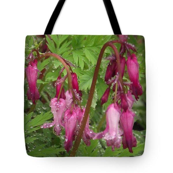 Garden Rain Drops Tote Bag