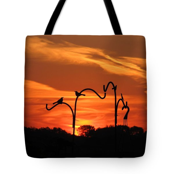 Tote Bag featuring the photograph Garden Sunrise by Tina M Wenger