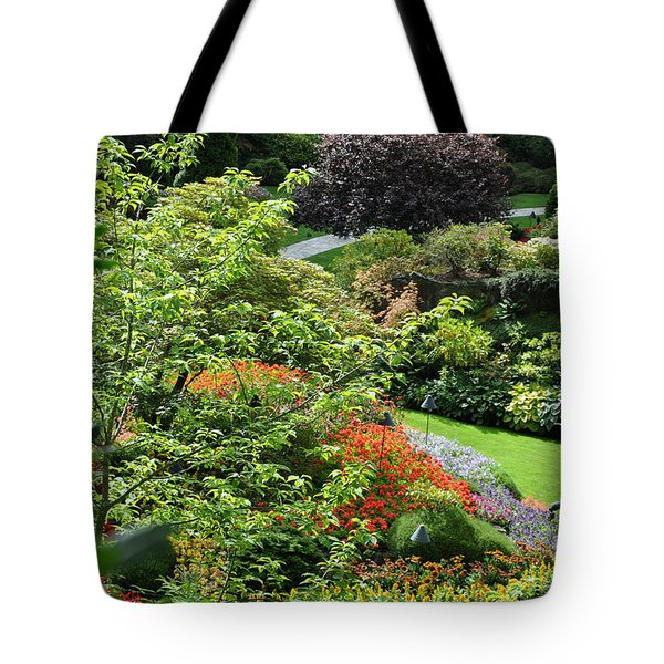 Garden Tapestry 3 Tote Bag by Tanya  Searcy