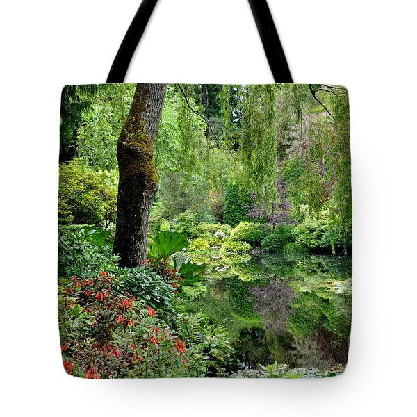 Garden Tapestry Tote Bag by Tanya  Searcy