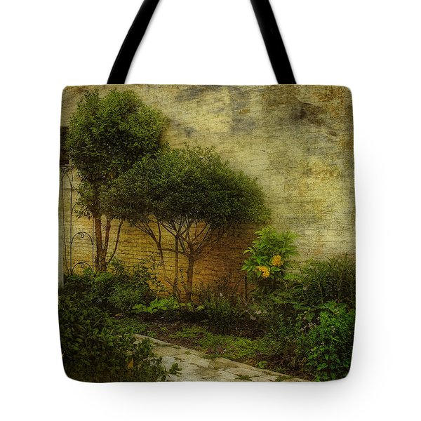 Tote Bag featuring the photograph Garden Walk by Joan Bertucci