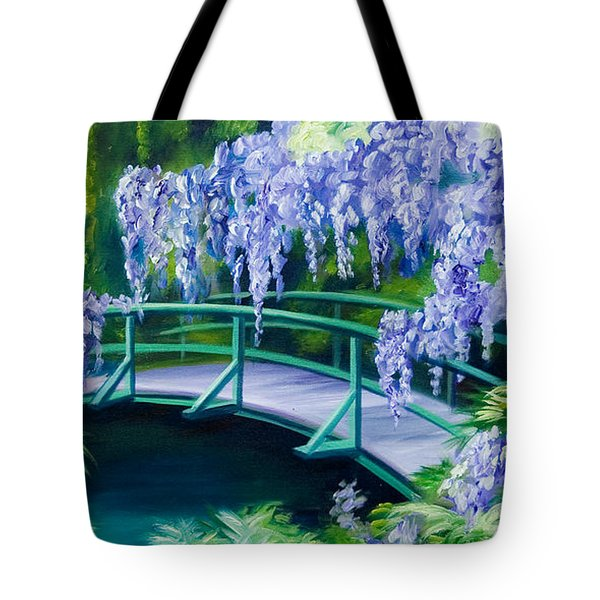 Gardens Of Givernia II Tote Bag by James Christopher Hill