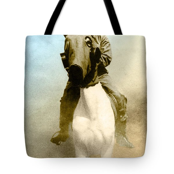 Gas Mask Tote Bag by Photo Researchers