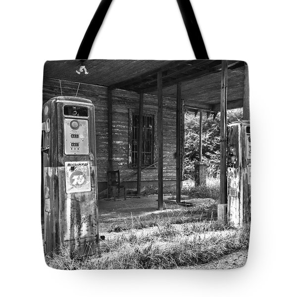 Gas Pumps Tote Bag