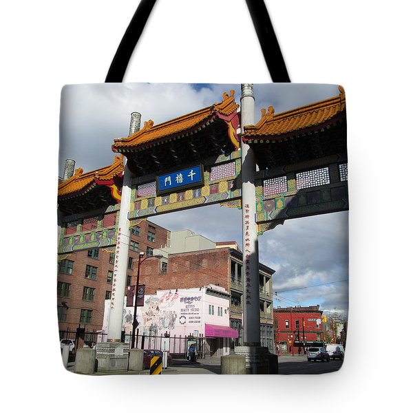 Gate To Chinatown  Tote Bag