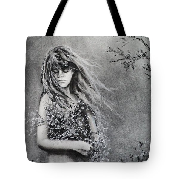 Gathering Spring Wildflowers Tote Bag by Carla Carson