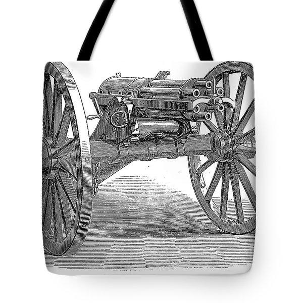 Gatling Gun, 1867 Tote Bag by Granger