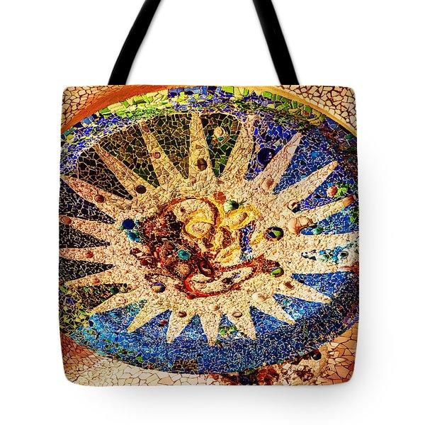 Gaudi Medallion Tote Bag by Bob and Nancy Kendrick