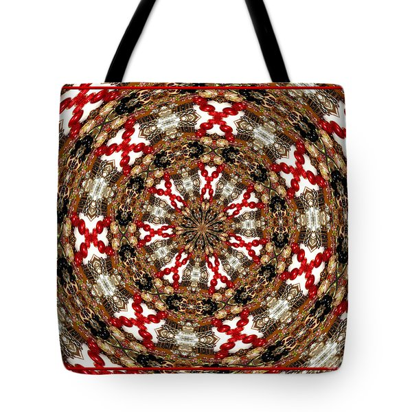 Gemstones And Silver Jewelry Kaleidoscope Tote Bag by Rose Santuci-Sofranko
