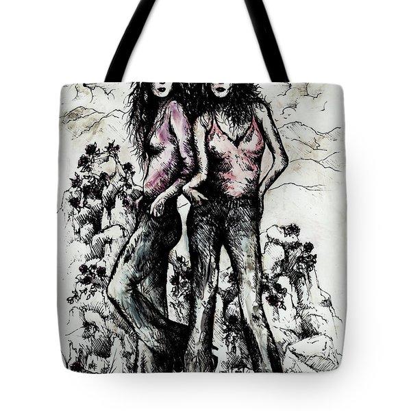 Genes And Roses Tote Bag by Rachel Christine Nowicki
