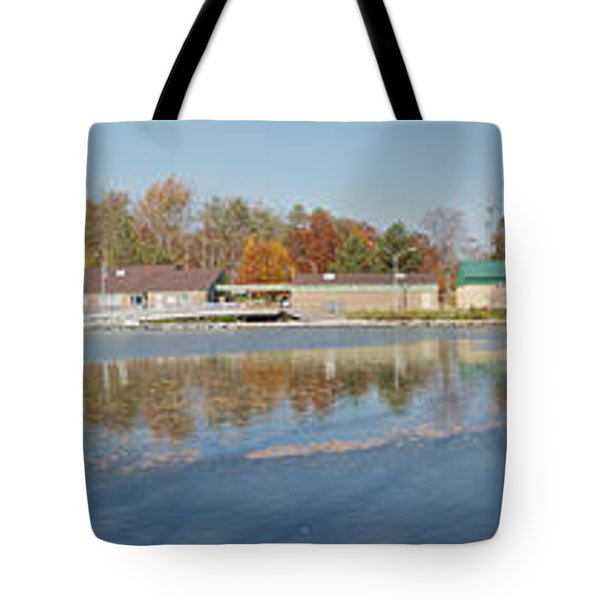 Tote Bag featuring the photograph Genesee River Panorama by William Norton
