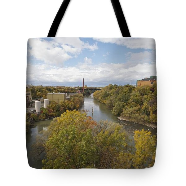 Tote Bag featuring the photograph Genesee River by William Norton