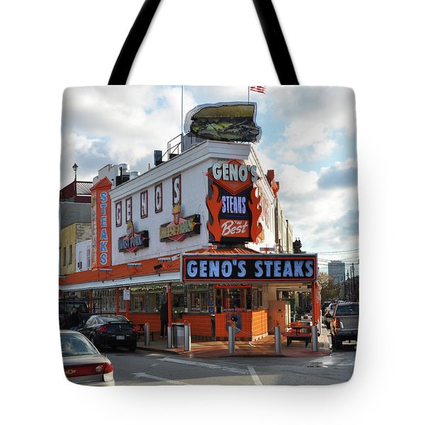 Geno's Steaks - South Philadelphia Tote Bag by Bill Cannon