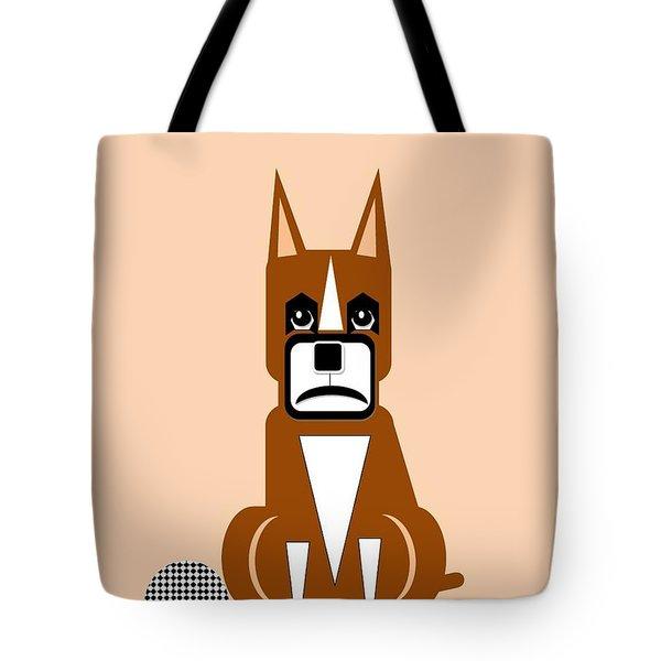 Geo Boxer Tote Bag by Maria Urso