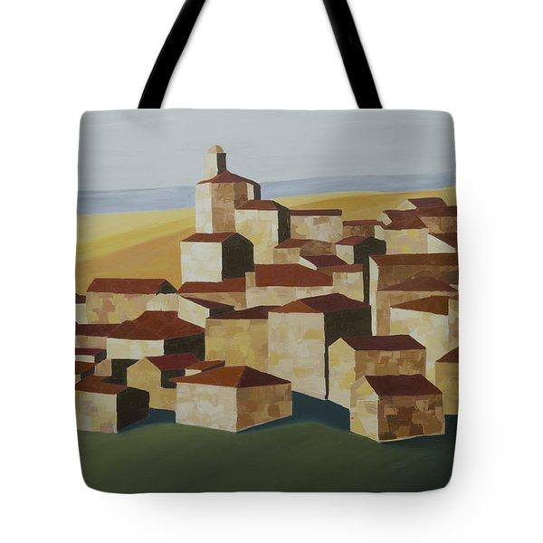 Cubist Village Spain Tote Bag