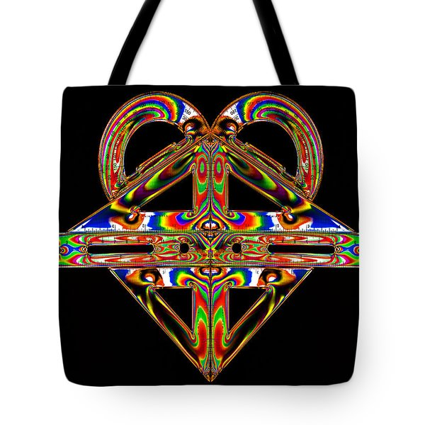 Tote Bag featuring the photograph Geometry Mask by Steve Purnell