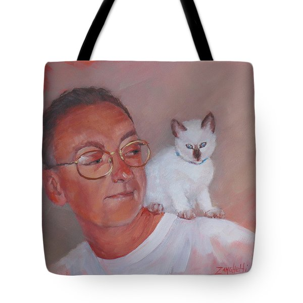 George And Doc Tote Bag by Laura Lee Zanghetti