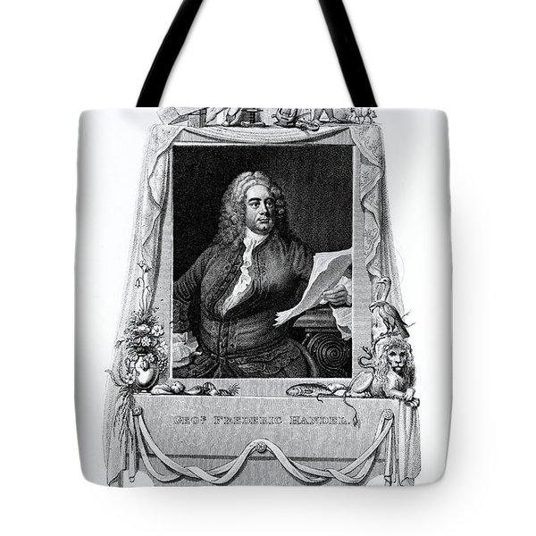 George Frideric Handel, German Baroque Tote Bag by Omikron