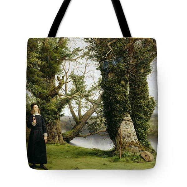 George Herbert At Bemerton Tote Bag by William Dyce