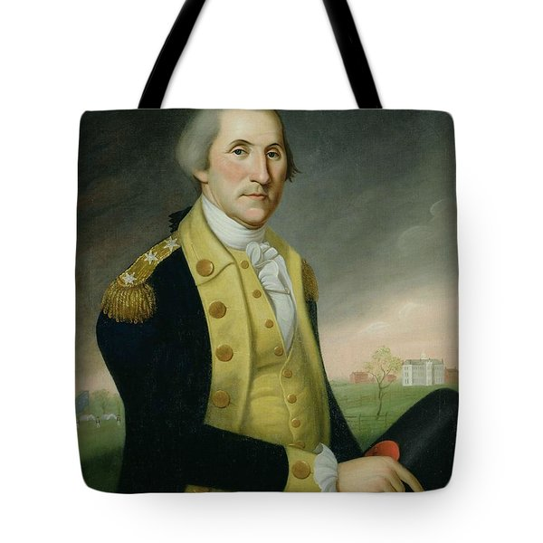 George Washington At Princeton Tote Bag by Charles P Polk
