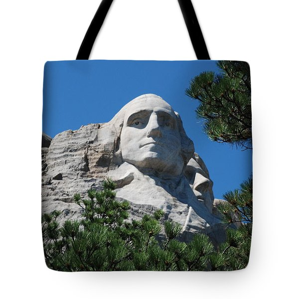 Tote Bag featuring the photograph George Washington Face  by Dany Lison