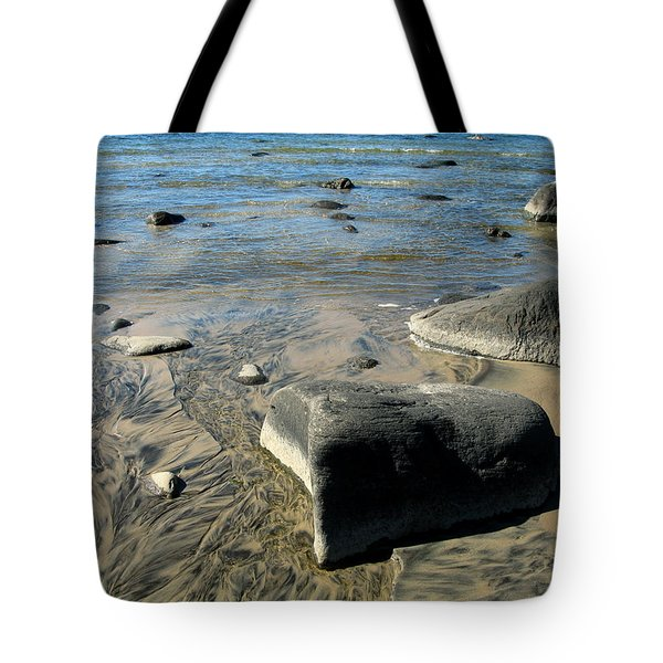 Georgian Bay Rocks Tote Bag