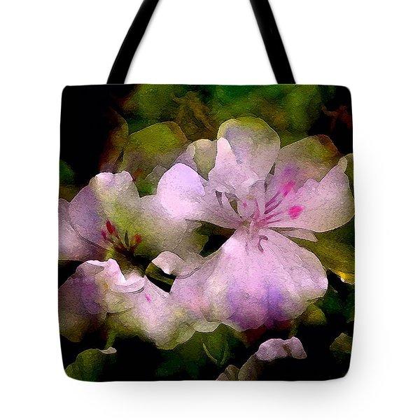 Geranium 8 Tote Bag by Pamela Cooper