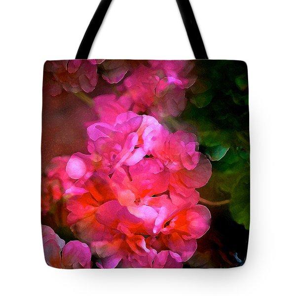 Geranium 9 Tote Bag by Pamela Cooper