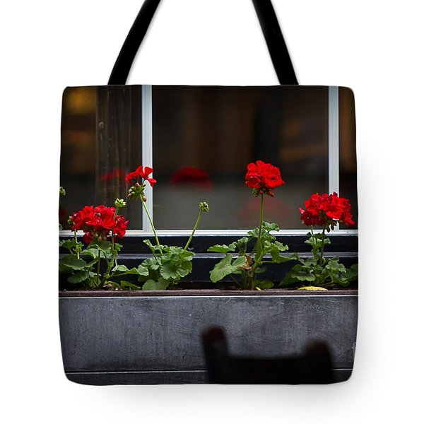 Geranium Flower Box Tote Bag by Doug Sturgess
