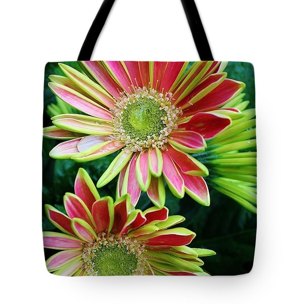 Tote Bag featuring the photograph Gerber Daisies by Bruce Bley