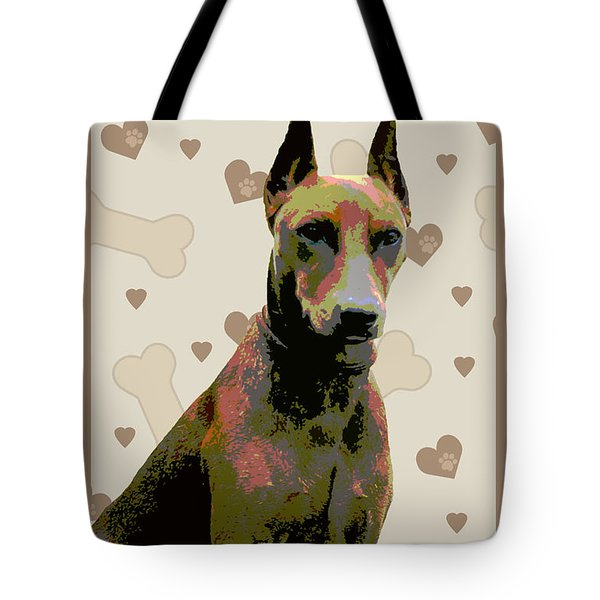 German Pinscher Tote Bag by One Rude Dawg Orcutt