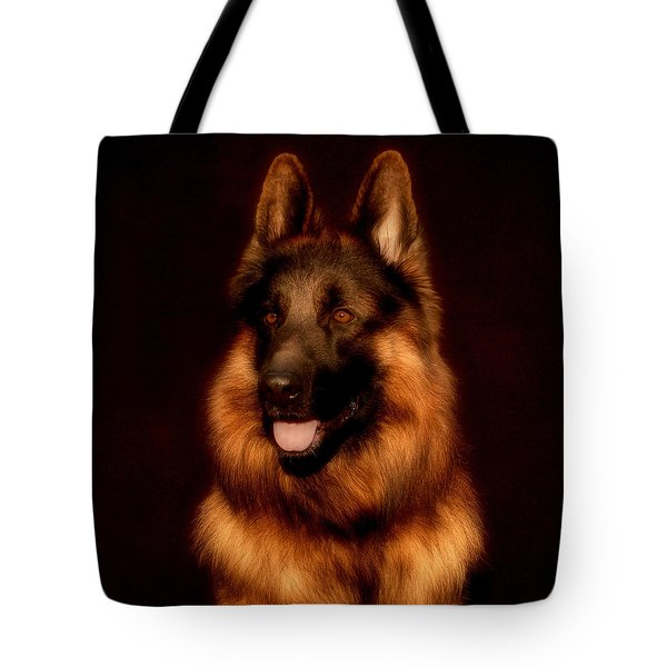 German Shepherd Portrait Tote Bag