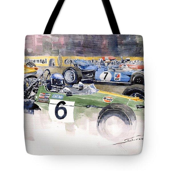 Germany Gp Nurburgring 1969 Tote Bag by Yuriy  Shevchuk