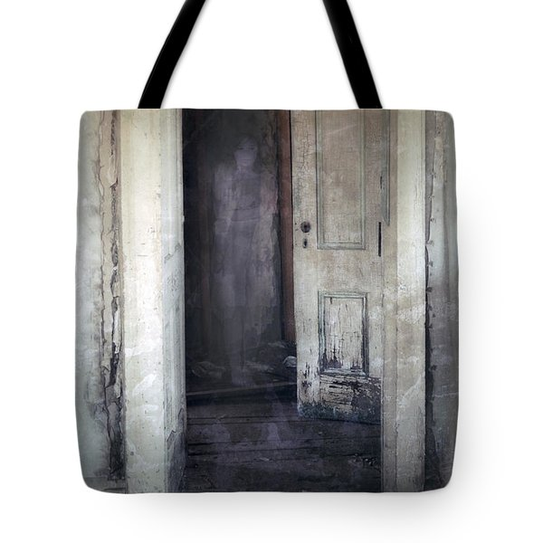 Ghost Girl In Hall Tote Bag by Jill Battaglia