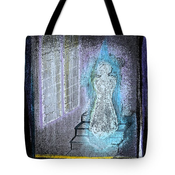 Ghost Stories Haunted Stairs Tote Bag by First Star Art
