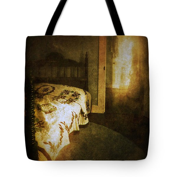 Ghostly Figure In Hallway Tote Bag by Jill Battaglia