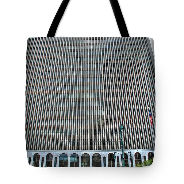 Tote Bag featuring the photograph Giant Bank Of M And T by Michael Frank Jr