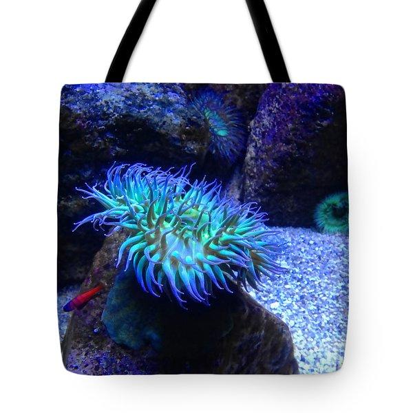 Giant Green Sea Anemone Tote Bag by Mariola Bitner