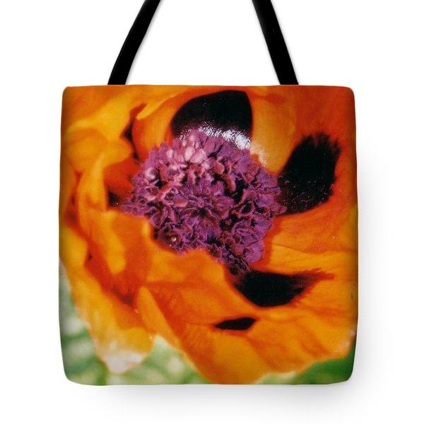 Giant Orange Poppy Tote Bag