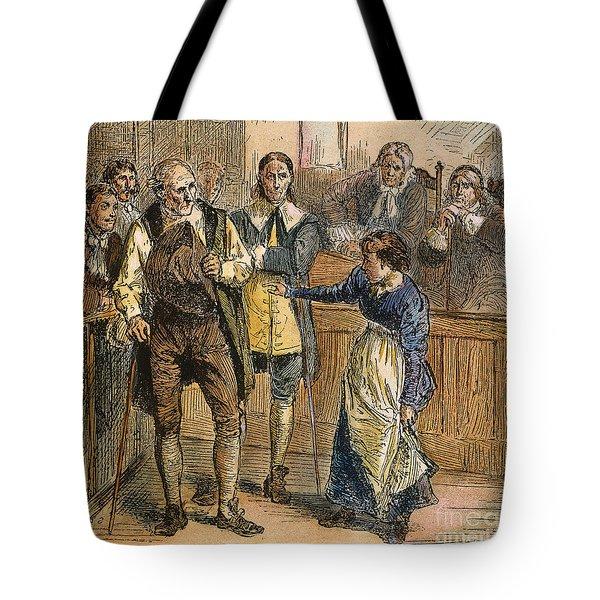 Giles Corey, 1692 Tote Bag by Granger