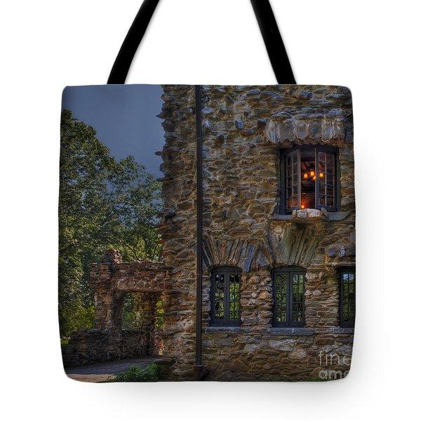 Gillette Castle Exterior Hdr Tote Bag by Susan Candelario