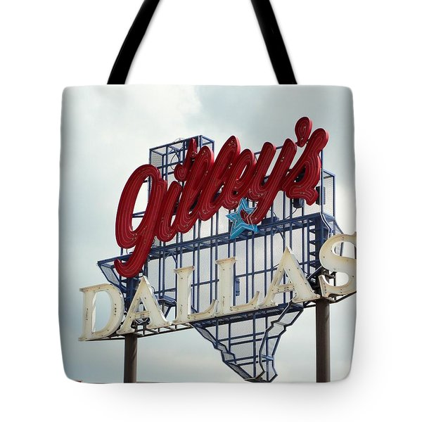 Tote Bag featuring the photograph Gilleys Dallas by Charlie and Norma Brock