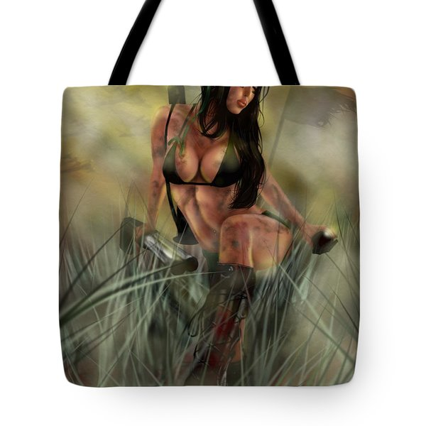 Gimme Shelter Tote Bag by Pete Tapang
