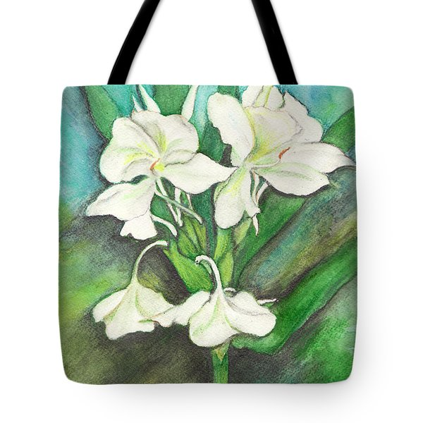 Ginger Lilies Tote Bag by Carla Parris
