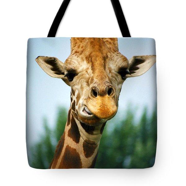 Giraffe Tote Bag by CJ Clark