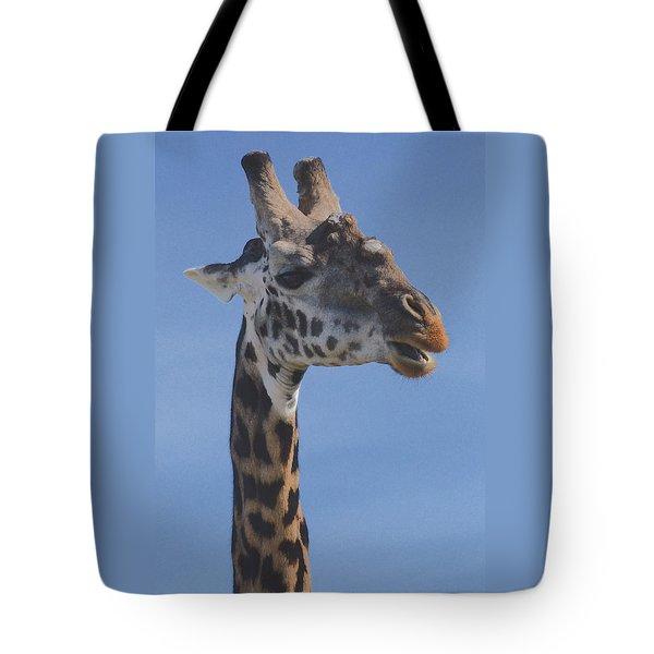 Giraffe Headshot Tote Bag