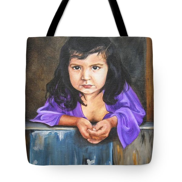 Tote Bag featuring the painting Girl From San Luis by Lori Brackett