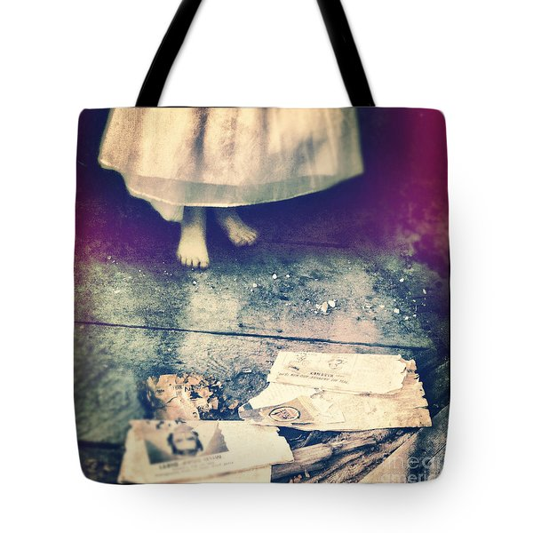 Girl In Abandoned Room Tote Bag by Jill Battaglia
