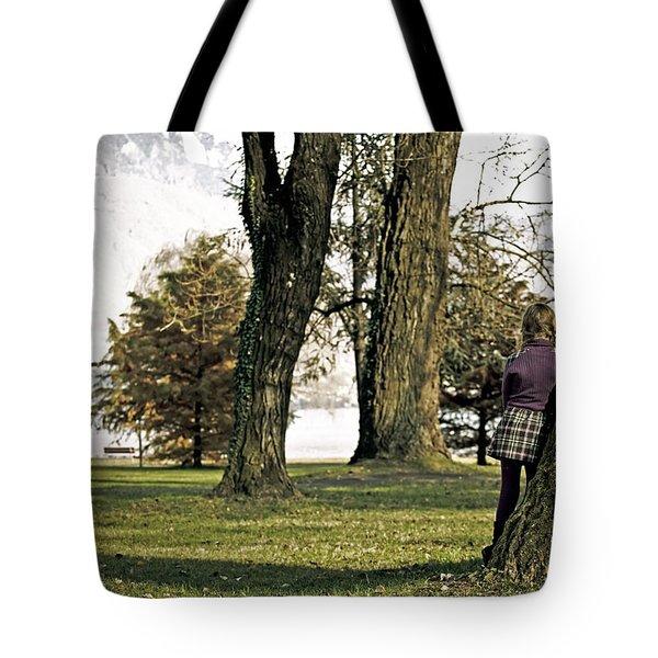 Girl In Autumn Tote Bag by Joana Kruse